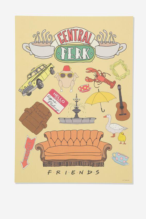 A3 Friends Wall Art Print, LCN WB FRIENDS YARDAGE