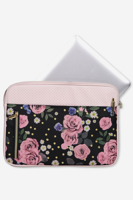 "Take Charge Laptop Cover 13"", POLKA FLORAL"