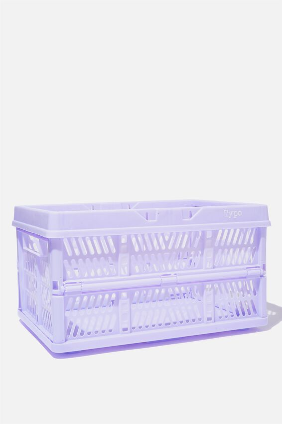 Large Foldable Storage Crate, PALE LILAC