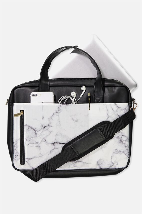 Take Charge Laptop Bag 15in, MARBLE