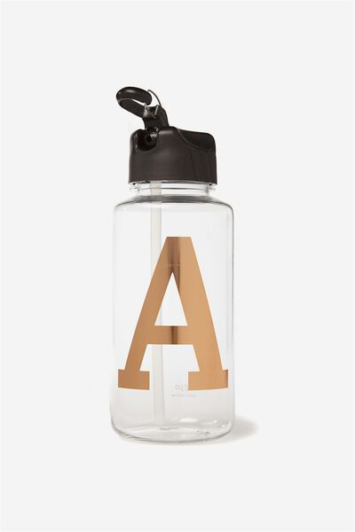 Alphabet Drink Bottle, ROSE GOLD A