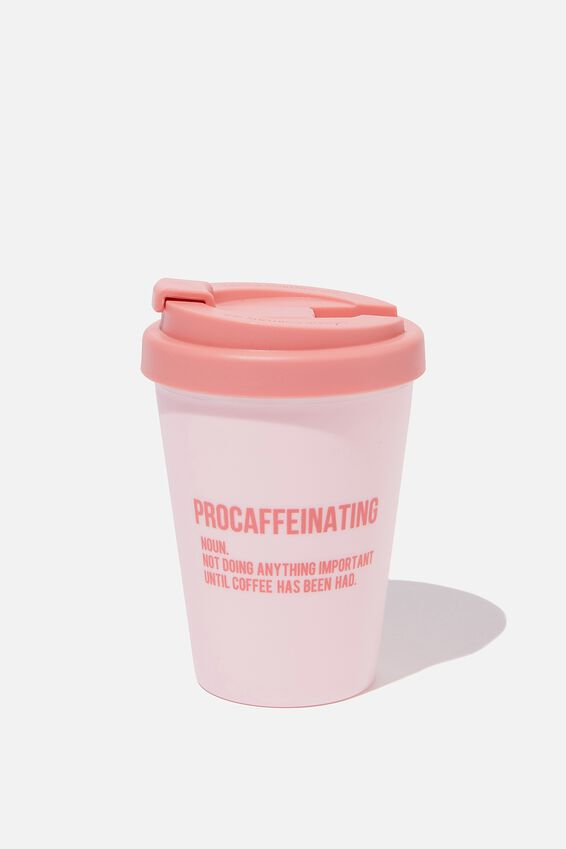 Take Me Away Mug, PINK PROCAFFEINATING
