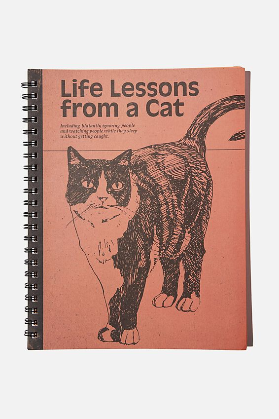 A4 Campus Notebook Recycled, LESSONS FROM A CAT