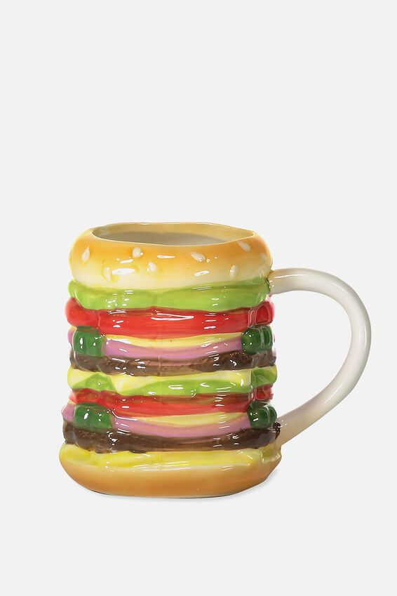 Novelty Shaped Mug, HAMBURGER