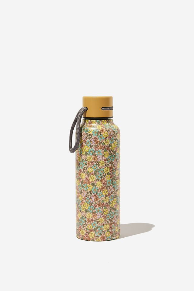 Boxed Metal Drink Bottle, DITSY FLORAL SAND