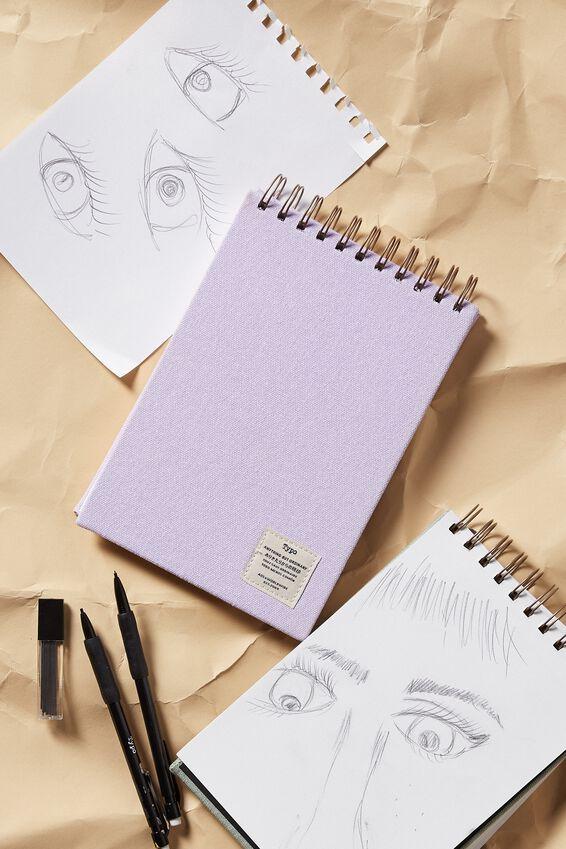 A5 Spiral Sketch Book, PALE LILAC
