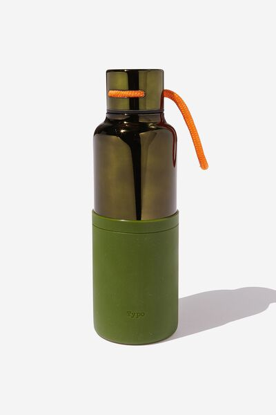 The Loop Metal Drink Bottle, OLIVE