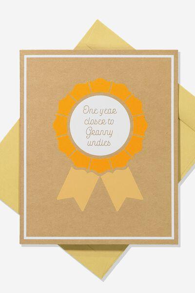 Premium Funny Birthday Card, POP UP GRANNY UNDIES