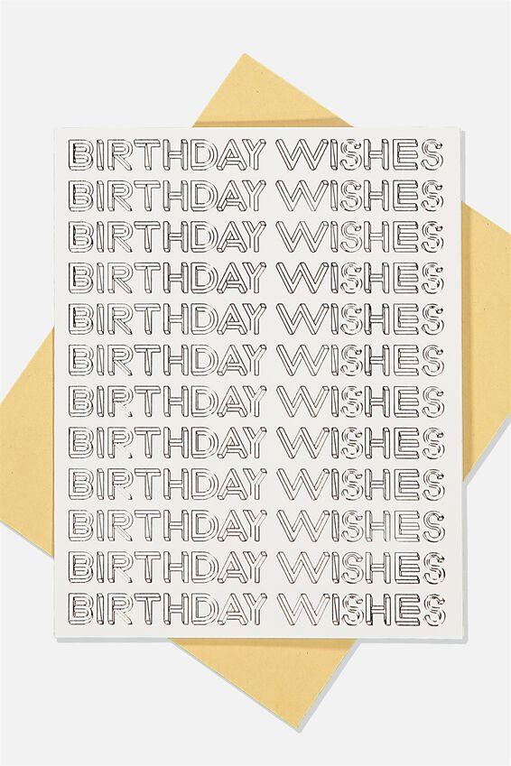 Nice Birthday Card, BIRTHDAY WISHES REPEAT