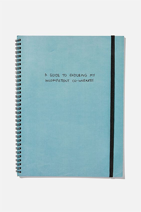 A4 Spinout Notebook Recycled, INCOMPETENT WORKERS
