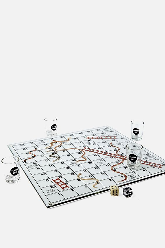 Shots And Ladders Board Game, MULTI