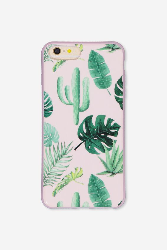 Printed Phone Cover 6,7,8 Plus, PINK PALM