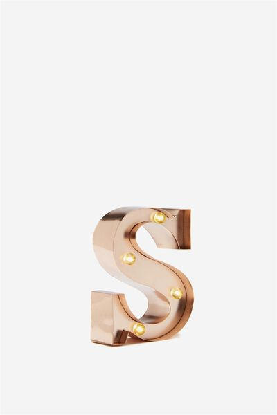 "Mini Marquee Letter Lights 3.9"", ROSE GOLD S"