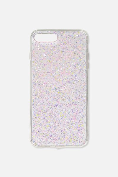 Transparent Phone Cover 6,7,8 Plus, PINK FOILING