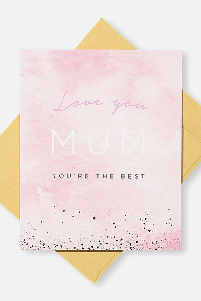 Mothers Day Cards 2018, LOVE YOU MUM