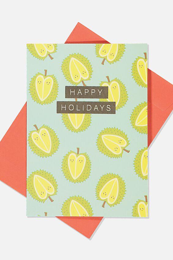 Christmas Card, DURIAN HAPPY HOLIDAYS