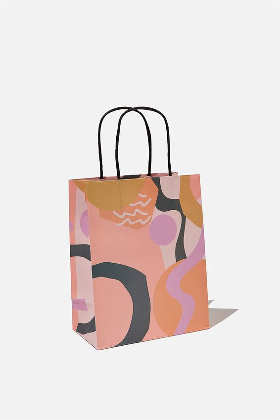 Get Stuffed Gift Bag - Small, BLUSH ABSTRACT