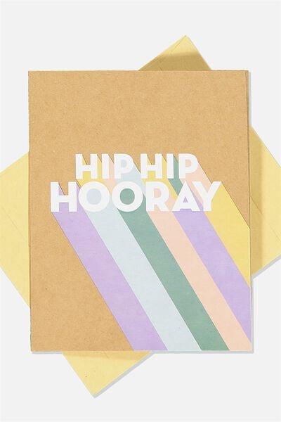 Nice Birthday Card, HIP HIP HOORAY RAINBOW CRAFT