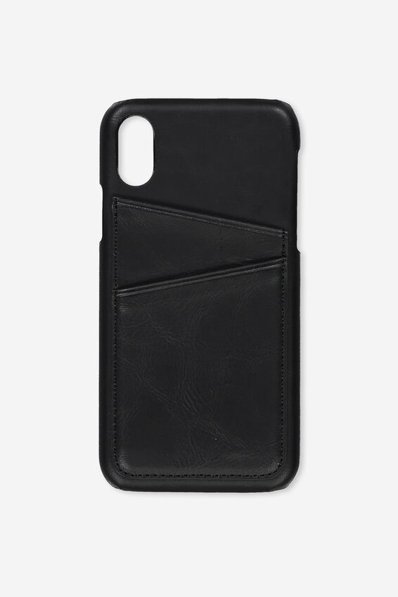 Cardholder Phone Case Iphone X,Xs, BLACK