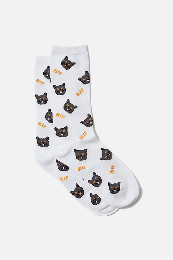 Socks, CATS WITH GLASSES