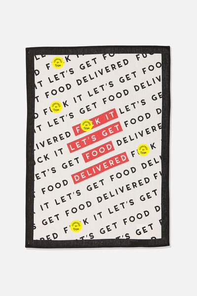 Tea Towel, FOOD DELIVERED!