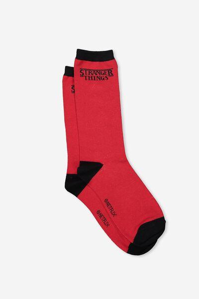 Mens Novelty Socks, LCN ST LOGO
