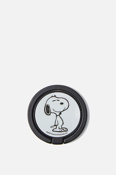Licenced Metal Phone Ring, LCN PEA SNOOPY FACE