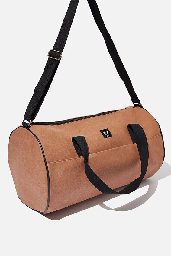 Canvas Barrel Bag, MID TAN