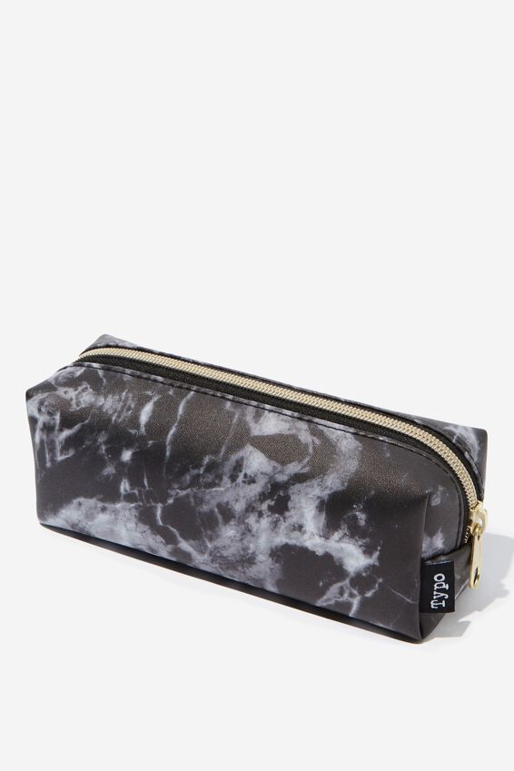 Bailey Pencil Case, BLACK MARBLE