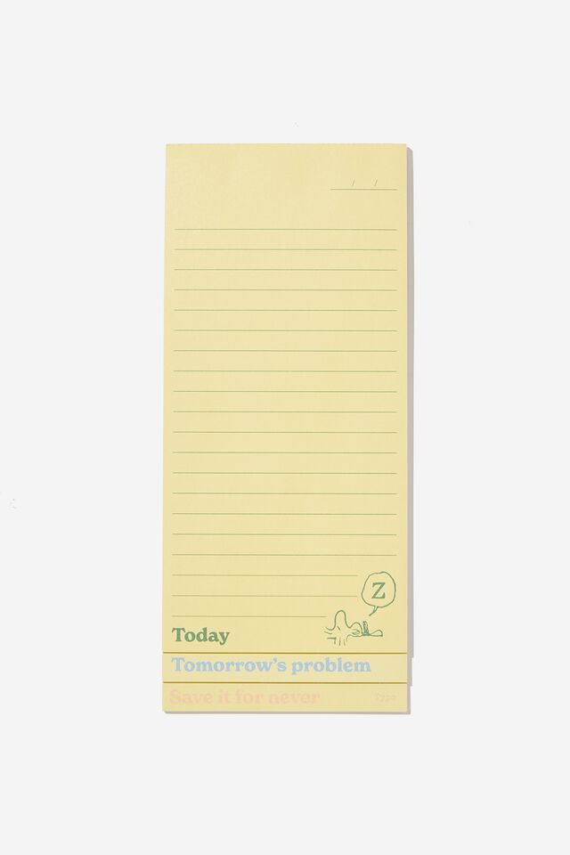 Peanuts Magnetic Make A List, LCN PEA YELLOW DO IT NOW