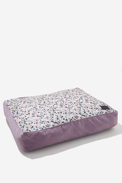 Large Printed Pet Bed, TERRAZZO