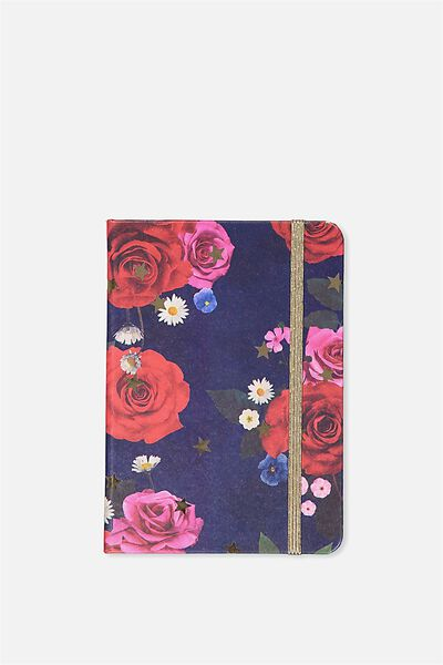 Small Buffalo Journal, NAVY FLORAL