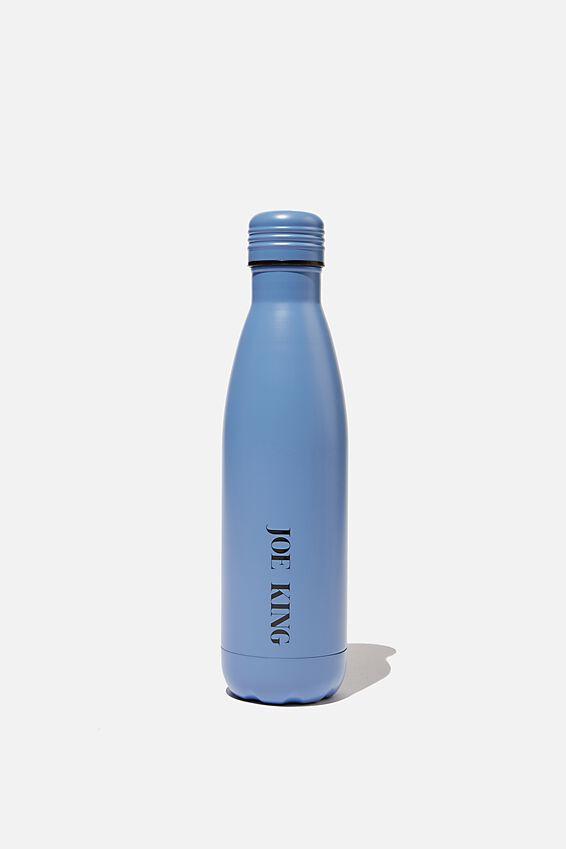 Metal Drink Bottle, BLUE GREY
