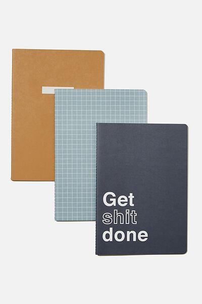 B5 3Pk Get It Done Notebooks, GET SH*T DONE!!