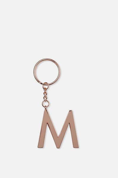 Alphabet Keyring, ROSE GOLD M
