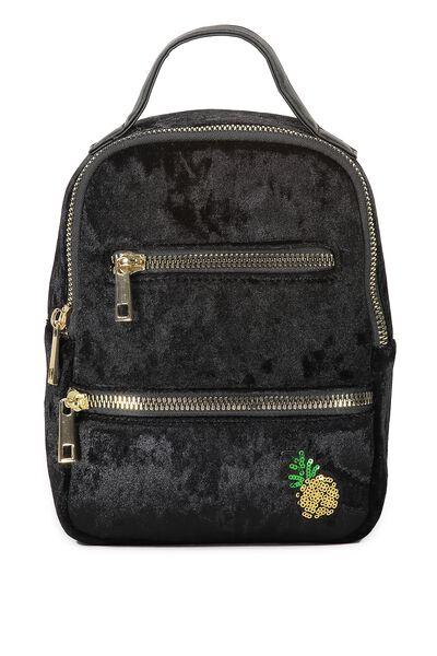 Valencia Backpack, BLACK VELVET PINEAPPLE