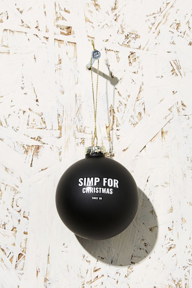 Small Glass Christmas Ornament, CHRISTMAS SIMP BAUBLE