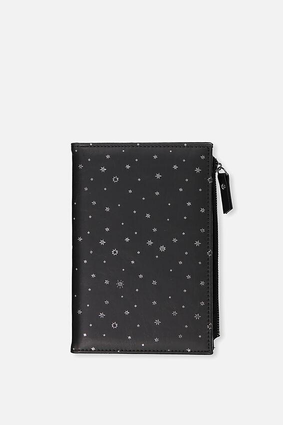 Travel Zip Journal, BLACK STARS