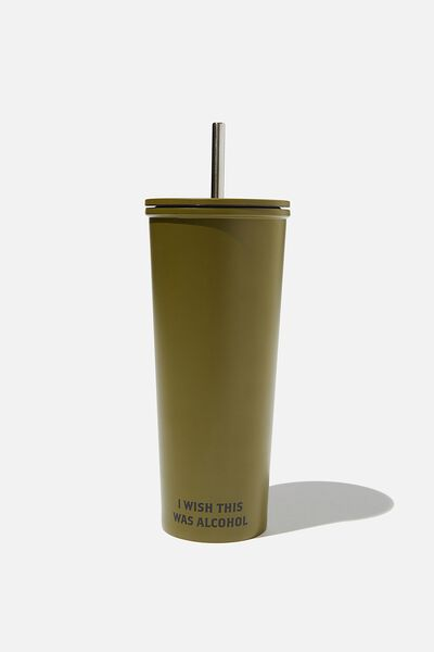 Metal Smoothie Cup, WISH ALCOHOL