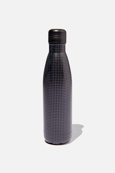 Metal Drink Bottle, GRID CHECK