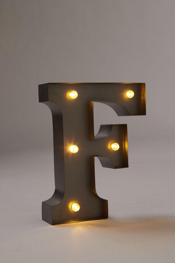 Midi Marquee Letter Lights 16cm, SILVER F