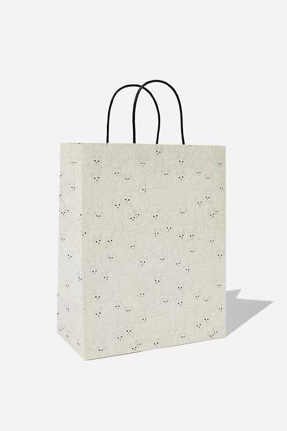 Get Stuffed Gift Bag - Medium, CAT REPEAT