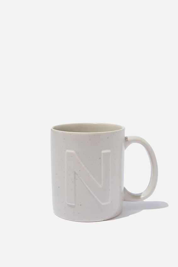 Alphabet Anytime Mug, SPECKLED N