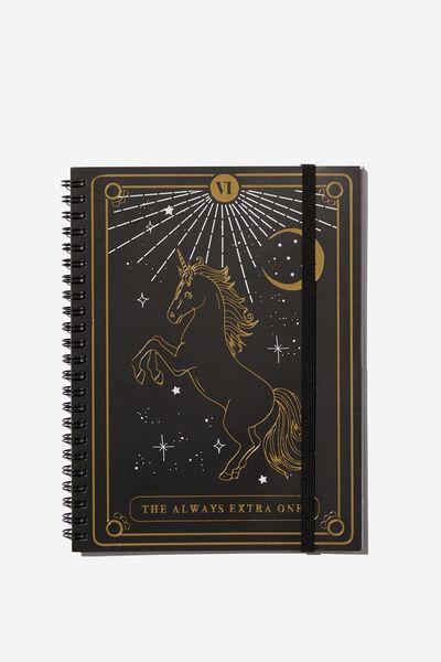 Small Spinout Notebook - V, UNICORN EXTRA