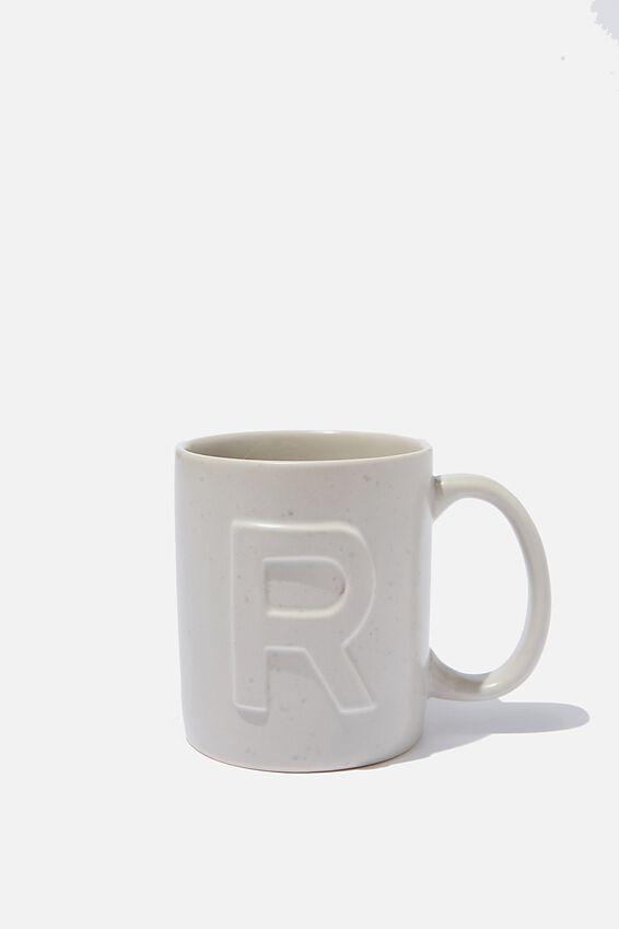 Alphabet Anytime Mug, SPECKLED R