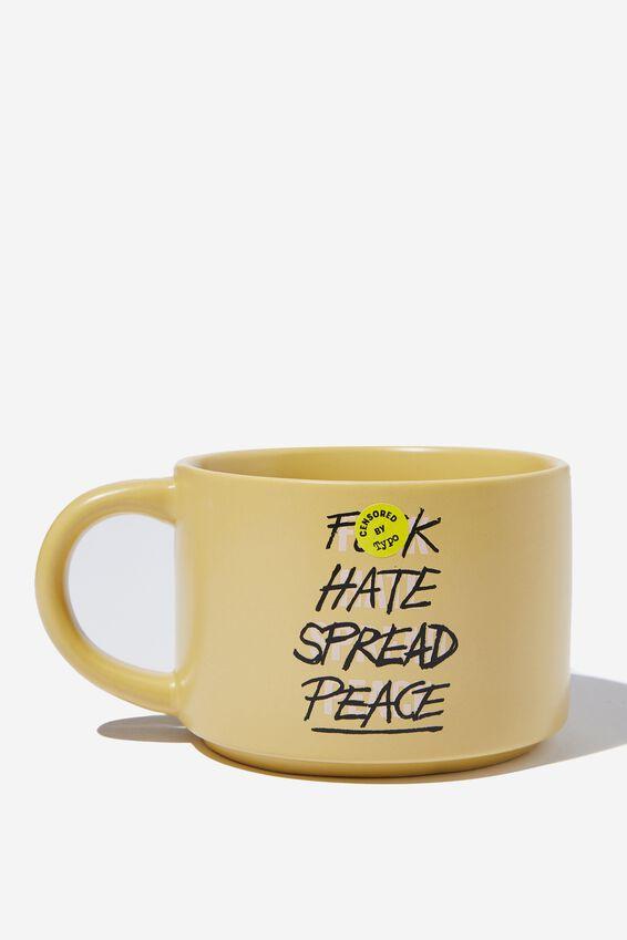 Big Hit Mug, F HATE SPREAD PEACE!!