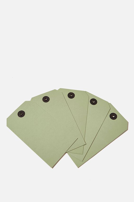 Gift Tag 5 Pack, ALLI GREEN