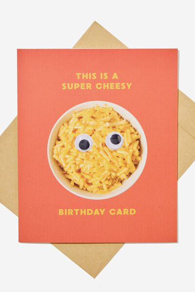 Premium Funny Birthday Card, CHEESY GOOGLY