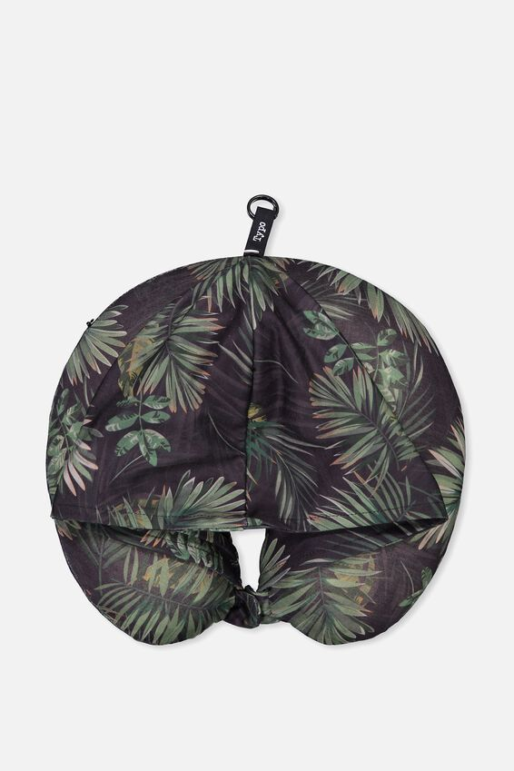 Hooded Travel Neck Pillow, PALMS