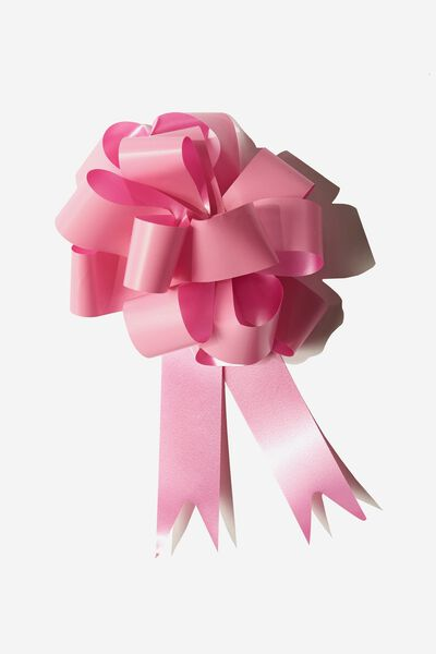 Pull Bow 3 Pack, HOT PINK